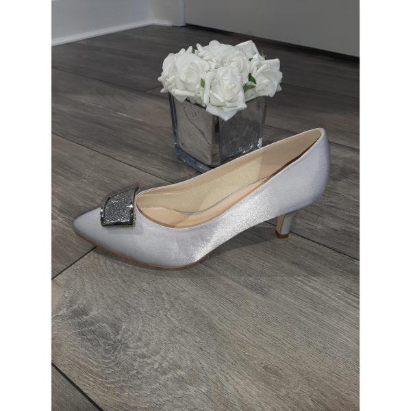 Fabiola Silver Occasion Shoe